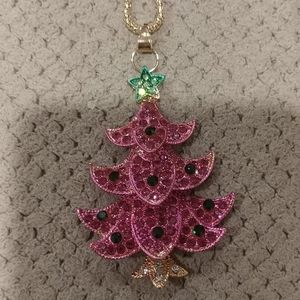 Jewelry - New crystal Christmas tree necklace